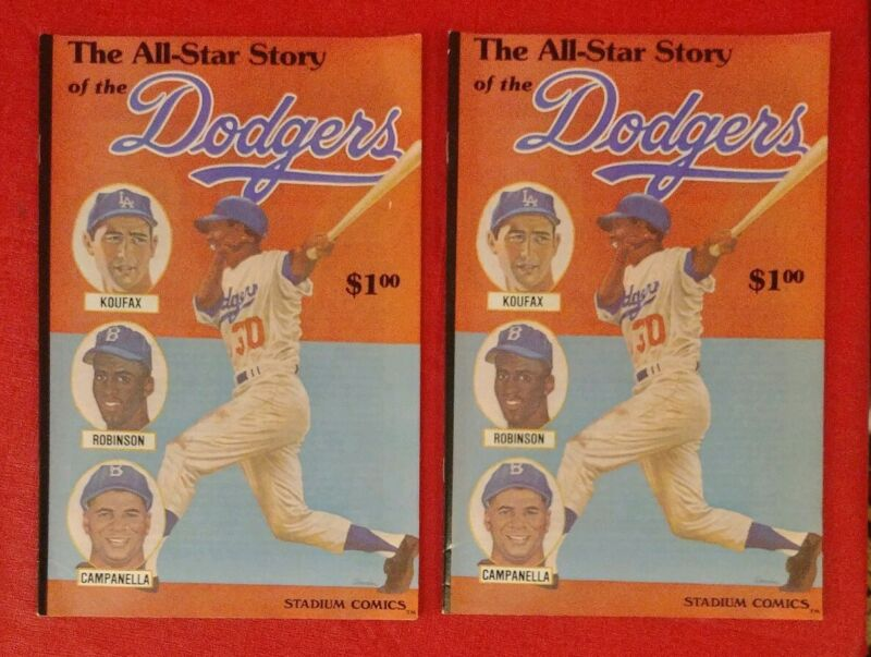 "1979 Stadium Comics The All-Star Story of The Dodgers ""Brooklyn"" Sold Separately"
