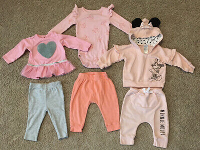 Lot Of 3 Infant Baby Girl 6-9 Months Outfits Gently Used/Good Condition!