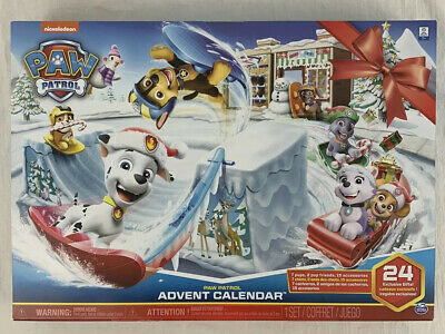 Nickelodeon Paw Patrol Advent Calendar with 24 Figurines New In Box Unopened