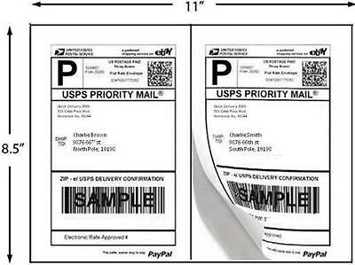 Laserinkjet Printer Labels 1000 Half Sheet Labels 8.5 X 5 Inches