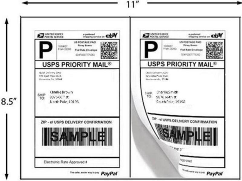 Laser/Inkjet Printer Labels 1000 Half Sheet Labels 8.5 x 5 Inches