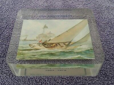 Better Paper Weight Acrylic Lucite Yacht Financing Insurance Marina Del Rey CA
