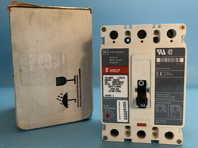 Cutler-hammer Hmcp150t4c 150a Circuit Breaker 600v 3p New Surplus