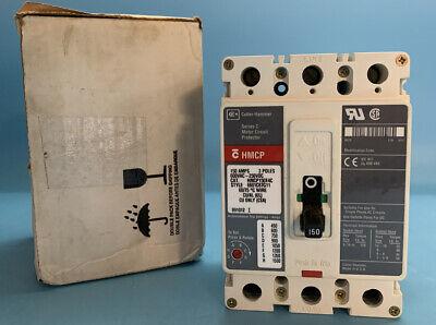 Cutler-hammer Hmcp150t4c 150a Circuit Breaker 600v 3p New Surplus