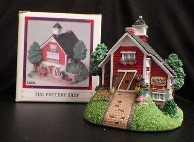 "LIBERTY FALLS ""THE POTTERY SHOP W/O W VANE CHRISTMAS WESTERN SNOW VILLAGE FIGURE"