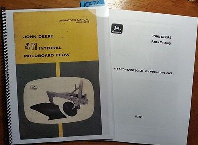 John Deere 411 Integral Moldboard Plow Owner Operator Manual 664 Parts 1064