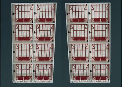 2 x 8 Bird Widowhood Hen/Nest Box for Pigeons/Fantails/Loft/Wooden Equipment