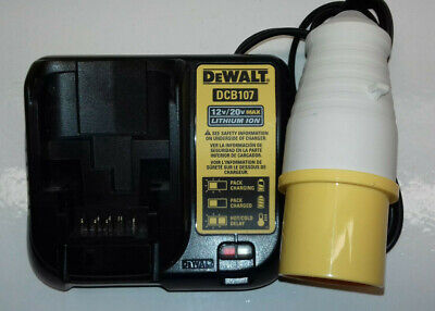 Dewalt 18v Xr 110 Volt Battery Charger 16a Yellow Plug 110v