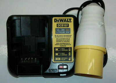 Dewalt 110 Volt 18v Xr Lithium Site Charger Yellow Plug 110v
