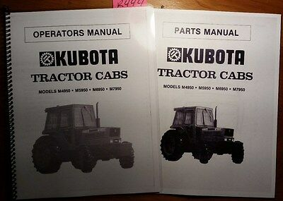 Kubota M4950 M5950 M6950 M7950 Tractor Cabs Owner Operator Manual 83 Parts 83