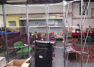Popup Exhibit Booth Frame Cross Bars2 Lights Case And Xtra Bars 96w 89t