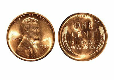 1955-D  LINCOLN CENT - RPM-009 CHOICE BU RED  2157