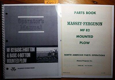 Massey Ferguson Mf 82 Basic 3 4 Bottom Mounted Plow Operator Manual 70 Parts