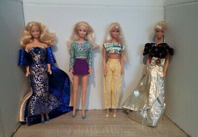Vintage Barbie Dolls Dressed And Shoed With Extra Clothes Bundle