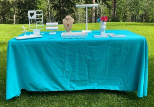Origami Owl Designer Consultant Display lot - table cloth, jewelry displays more