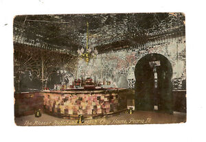 Postcard Post Card Peoria Illinois Ill Il Interior