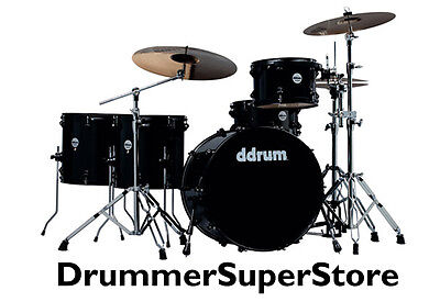 ddrum Journeyman Drum Set with Hardware Black Kit JMR522 MB - NEW