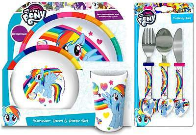 My Little Pony 6-Piece Melamine Dinner Set | Tumbler, Bowl, Plate and Cutlery