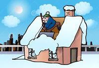 Snow removal for roofing & decks, Fully Insured