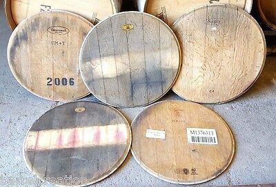 5 Authentic Wine Barrel Head Solid Oak Napa Valley With Logo FREE SHIPPING