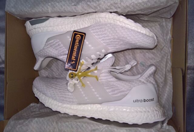 Adidas ultra boost custom uncaged size 10 men painted tan white 3.0