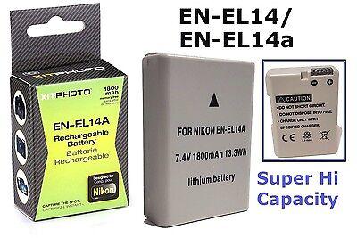 Rechargeable Hi Capacity EN-EL14a Li-Ion Battery for Nikon Df