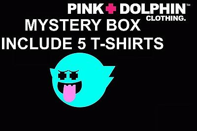 - Pink Dolphin Assorted 5 Piece Shirt Set Clothing Authentic Mens Cotton Tee