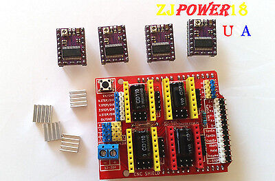 Cnc Shield V3 Expansion Board 4pcs Stepstick Drv8825 Stepper For Arduino