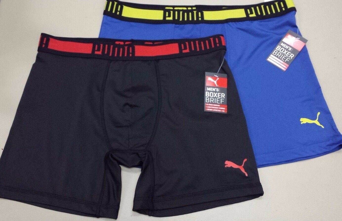 Puma Men's Athletic Performance Boxer Briefs Stretch Underwe