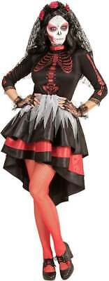 Ladies Day Of The Dead Festival Bride Halloween Fancy Dress Costume](Festival Of The Dead Halloween)