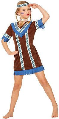 Indianerin Kinderkostüm NEU - Mädchen Karneval Fasching Ver (Schnelle Kostüme)