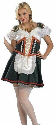 German Beer Girl Costume Bavarian Oktoberfest Bar Maid - Plus Size 14-16 - Fast (Bar Maid Kostüm Plus Size)