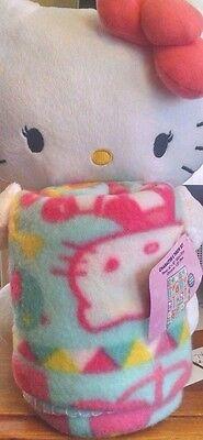 HELLO KITTY Plush Character & Throw Blanket Set