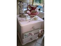 pretty pink bedside drawers