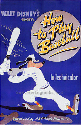 HOW TO PLAY BASEBALL Movie POSTER 27x40 B George Johnson