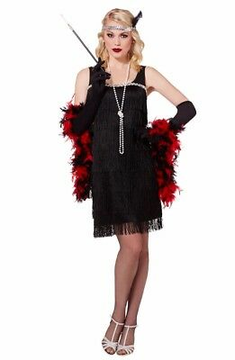 Spirit brand Adult black flapper Gatsby 20s Halloween costume dress Size Medium