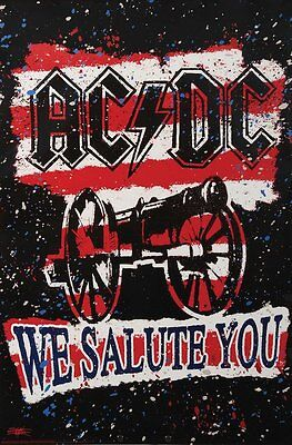 AC/DC WE SALUTE YOU CANNON Poster 24x36 New Free Shipping