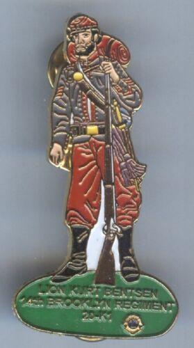 Lions Club Pins - Civil War New York Booklyn Regiment