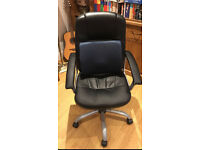 Leatherette office chair with back support