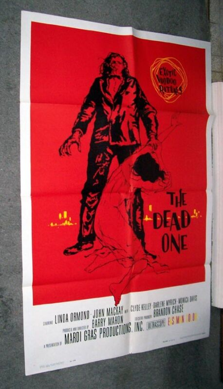 NEW ORLEANS VOODOO original 1960 HORROR one sheet movie poster THE DEAD ONE