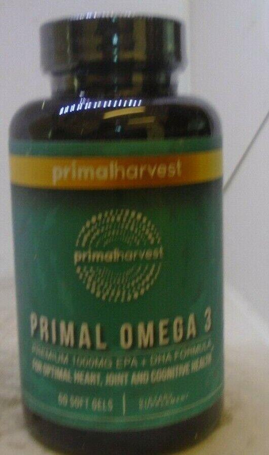 Primal Omega-3 - Premium Omega-3 Fish Oil Supplement - 60 Soft Gels - 1000 mg