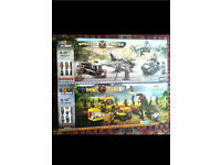 2 big boxes of Brick by Brick special forces & dino park Lego builders Brand new boxed