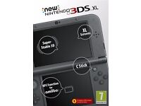 NEW NINTENDO 3DS XL BLACK EDITION MINT CONDITION IN BOX