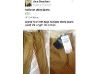 Hollister new chino jeans