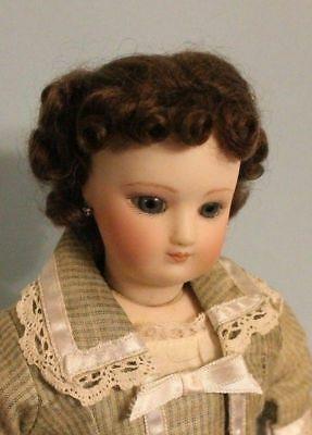 Light Brown French Fashion doll mohair wig Size  7 - 8