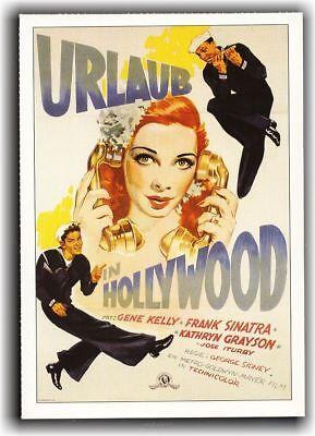URLAUB IN HOLLYWOOD ♦ 1945 ♦ CINEMA Filmkarte Karte ♦ Gene Kelly ♦ Frank Sinatra ()