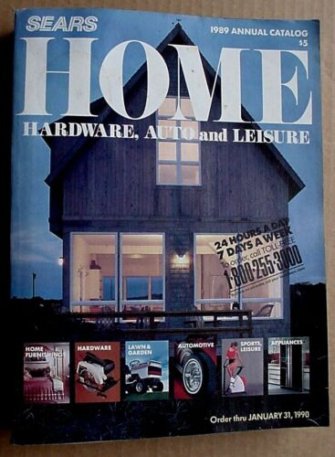 1989  SEARS Annual Home Hardware and Leisure Catalog- Edition 278A