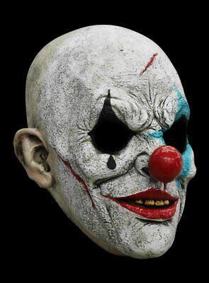Gruselige Horror Clown Maske des Grauens aus Latex - Halloween Clownsmaske