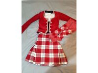Highland Dancing Kilt Outfit Age 8-9
