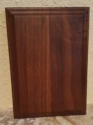 "Solid Walnut Blank Wood Plaque 5"" x 7"" FREE SHIPPING B24"
